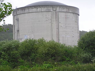 Brennilis Nuclear Power Plant - The reactor containment structure