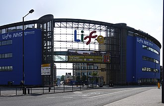 Centre for Life - The northern entrance to the Centre for Life and Times Square.