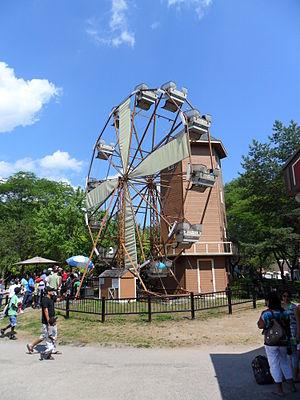 Centreville Amusement Park - The antique Ferris wheel, dressed up as a windhill