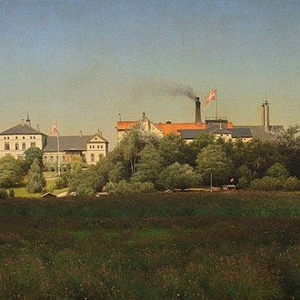Ceres Brewery - Painting of the old Ceres breweries (1893)