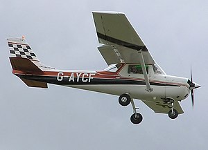 A Cessna 150, one of the more famous items Mic...