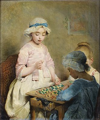 Children (short story) - The Game of Lotto, by Charles Joshua Chaplin, 1865