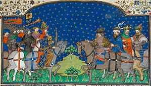 Talbot Shrewsbury Book - Charlemagne and four kings - British Library Royal MS 15 E vi f25r (detail)