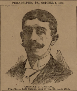 Count Campau - Charles C. Campau on the front page of The Sporting Life, October 4, 1890