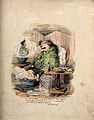 Charles Kean, ill with flu. Coloured etching. Wellcome V0011159.jpg