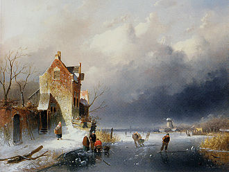 Charles Leickert - Image: Charles Leickert (1816 1907) Ice View With Skaters
