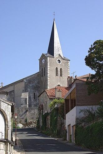 Charroux, Vienne - The church of Saint-Sulpice, in Charroux