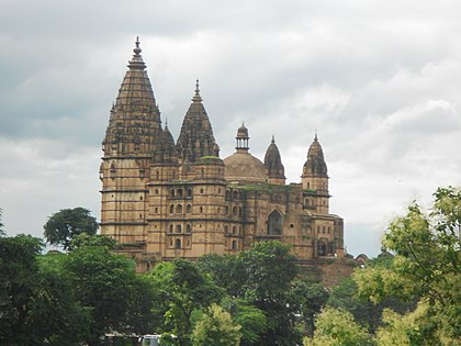 Chaturbhuj Temple built by the Bundela Rajputs, is one of the tallest pre-modern structure in the Indian subcontinent.[322]