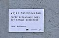 Cheap Repentance does not change direction by Vijai Patchineelam - label.jpg