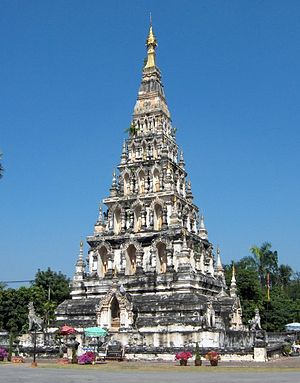 Wiang Kum Kam - The chedi of Wat Chedi Liam