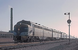 Chesapeake and Ohio Railway - The Chesapeake and Ohio Railway's Pere Marquette near Gary, IN on November 26, 1965