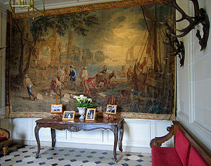 David Teniers III - Return of the Fishermen, tapestry by David Teniers III (Château de Cheverny)