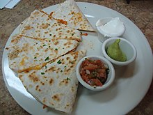 Chicken Quesadilla dish at Latin Bistro restaurant Summit NJ.JPG