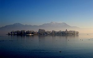 Chiemsee (municipality) - Frauenchiemsee in winter
