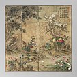 Chinese chess board painted with flowers of the four seasons.jpg