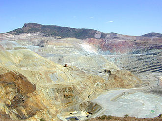 Surface mining - The El Chino mine located near Silver City, New Mexico is an open-pit copper mine.