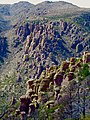Chiricahua National Monument ridge of countless vertical rock formations.jpg