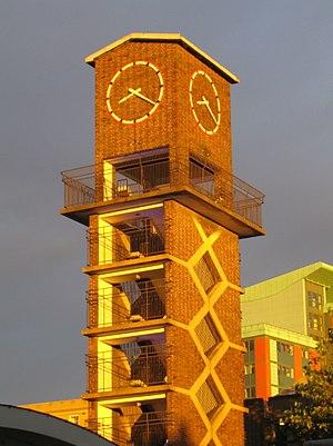 Lansbury Estate - Clock Tower, Chrisp Street Market