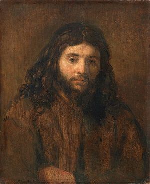 Head of Christ (Rembrandt) - Image: Christ, by circle of Rembrandt van Rijn