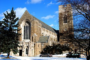 Cranbrook Schools - Christ Church Cranbrook (1925–1928), by architect Bertram Goodhue