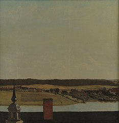 Roof Ridge of Frederiksborg Castle with View of Lake, Town and Forrest