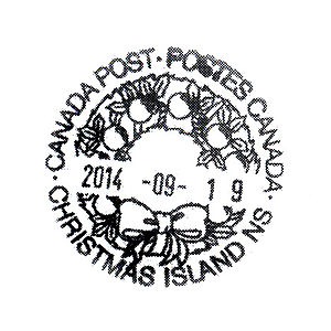 Christmas Island, Nova Scotia - Make your holiday cards special with a postmark from Christmas Island. Address and place the correct postage (or international reply coupon) on the actual greeting card, insert the card into a larger envelope and send to:Christmas Island Post Office8499 GRAND NARROWS HWYCHRISTMAS ISLAND NS B1T 1A0