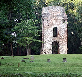 Colonial Dorchester State Historic Site - Image: Church Ruins in Old Dorchester