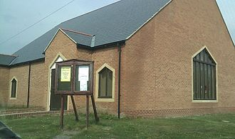 Bowburn - The simple, but functional, brick 'shed' which replaced the 'Pineapple Church'.