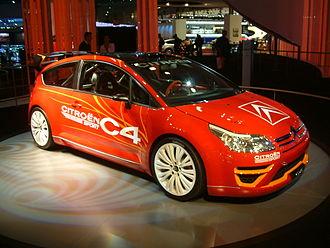 Citroën C4 WRC - Image: Citroën C4 WRC at the 2006 Paris Motor Show 03