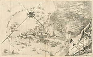 Morean War - The siege of Coron, depicted by Vincenzo Coronelli