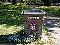 City of London Cemetery litter bin 1.jpg