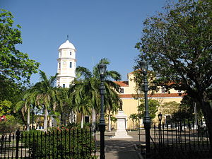 St. Thomas Cathedral, Ciudad Bolívar - View of the cathedral facing the Bolívar Square