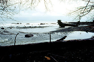 Clallam Bay, Washington - The mouth of the Clallam River is located in Clallam Bay County Park.