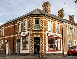 Clark's Pies - The Clark's Pies shop in Bromsgrove Street