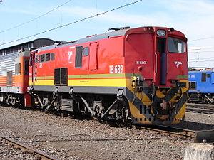 South African Class 6E1, Series 3 - Cab 1 of Class 18E no. 18-689, ex Class 6E1 no. E1390, Bellville Depot, 31 January 2013