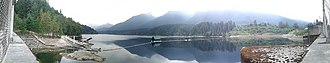 Capilano Lake - A view of Capilano Lake from the Cleveland Dam.