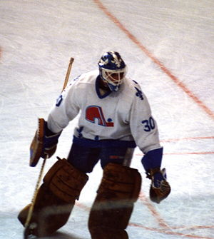 Clint Malarchuk - Malarchuk playing for the Quebec Nordiques in 1986