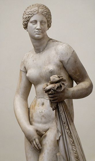 Phryne - A copy of the Aphrodite of Knidos. Phryne is said to be the model of the original.