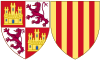 Coat of Arms of Violant of Aragon as Queen of Castile.svg