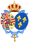 Coat of arms of Princess Anne, Duchess of Calabria (Spanish Heraldry).svg