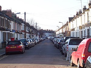 English: Cobbled Road Willesden NW10 Cobbold R...