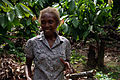 Cocoa farmer Flora Kebu explains her farming process at Kebu farm. (10687144284).jpg