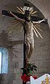 Collegiata di Sant'Agata (Asciano), int., crocifisso ligneo del XV sec.JPG