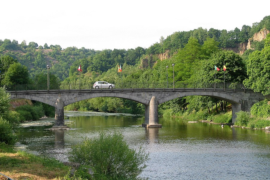 Comblain-la-Tour (Belgium), the bridge on the Ourthe river.
