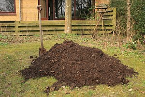 Compost heap. This is the amount that is produ...