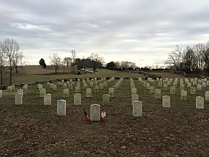 Battle of Mill Springs - Confederate Graves today at the Mill Springs Battlefield.
