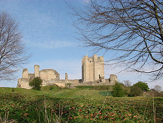 12th-century Conisbrough Castle, open to the public and property of English Heritage Conisbrough Castle Doncaster winter time.jpg