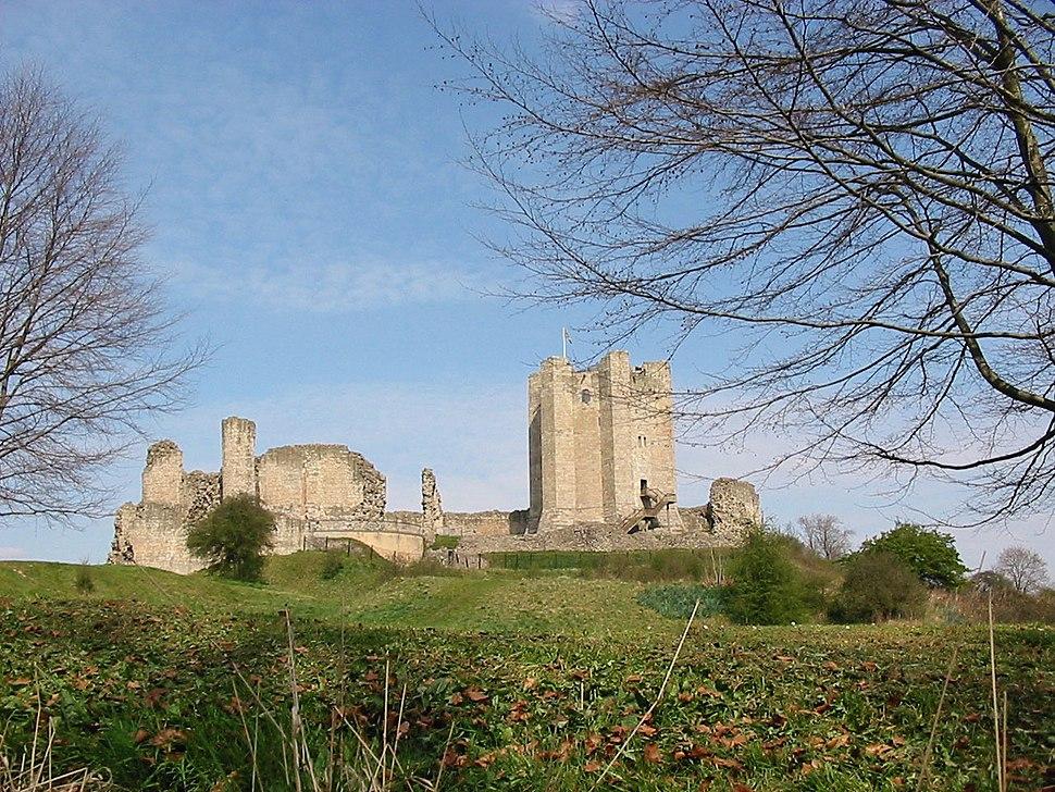 Conisbrough Castle Doncaster winter time