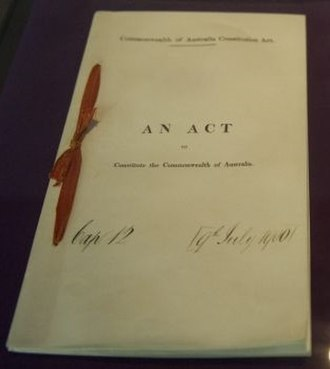 Constitution of Australia - A copy of the Commonwealth of Australia Constitution Act 1900 (Imp)