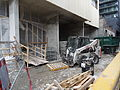 Construction rubble beside the almost finished reconstruction of the old National Hotel, 2015 03 07 (16731955216).jpg